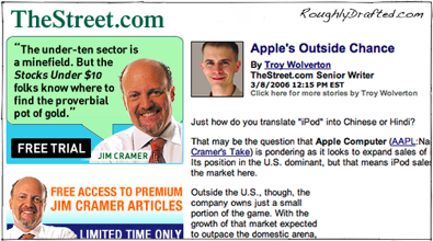 More on Troy Wolverton, the Street, and Apple Scandal
