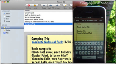 Using iPhone: Notes, ToDos, Attached Files, and Mac OS X Leopard