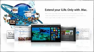 New in .Mac: Web Gallery, Disk Size, Bandwidth