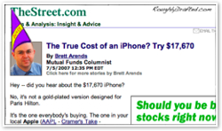 The Street's Flaccid Campaign Against the iPhone