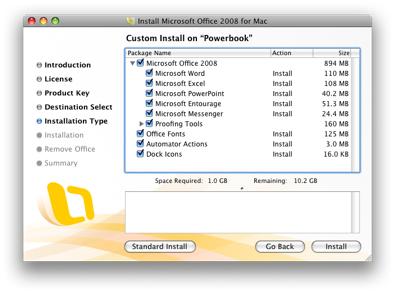 Office 2008 Install