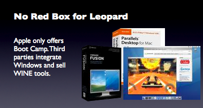 No Red Box for Leopard