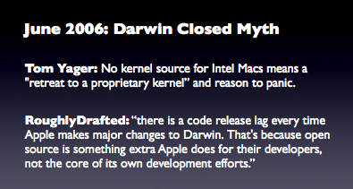 June 2006: Darwin Closed Myth