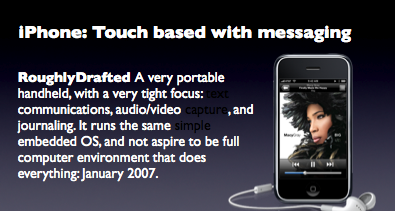 iPhone: Touch based with messaging