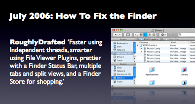 July 2006: How To Fix the Finder