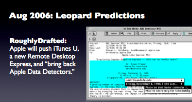 Aug 2006: Leopard Predictions
