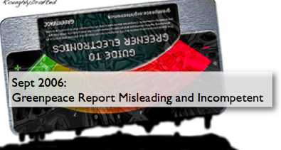 Greenpeace Report Misleading and Incompetent