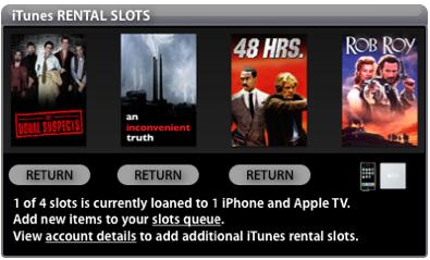 iTunes Rental Slots