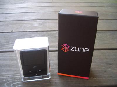 Nano vs Zune box
