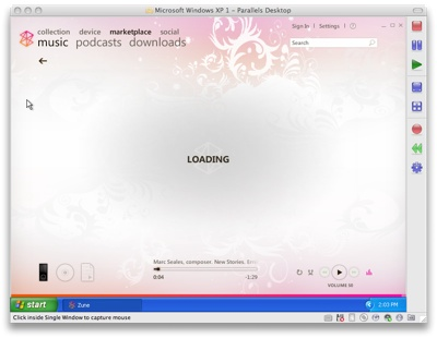 Zune marketplace loading