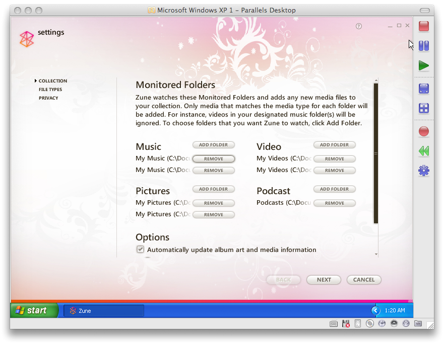 zune software for mac os x
