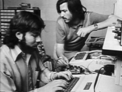 Apple founders Steve Jobs and Steve Wozniak