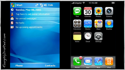 OS X vs. WinCE: How iPhone Differs from Windows Mobile