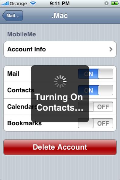 MobileMe push
