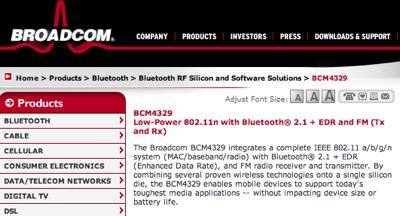 broadcom BCM4329